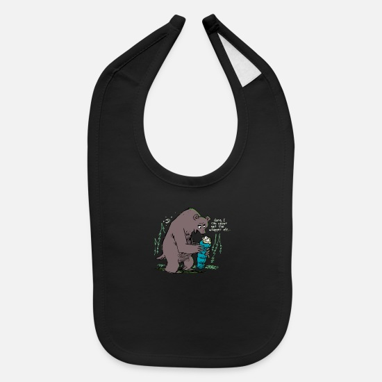 Camping Baby Clothing - Individually Wrapped Camp Snack - Baby Bib black