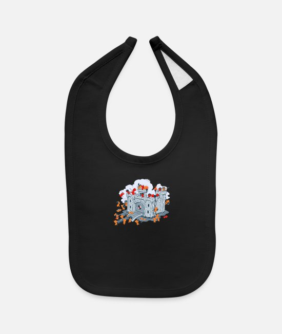 Movie Baby Bibs - The Siege - Baby Bib black