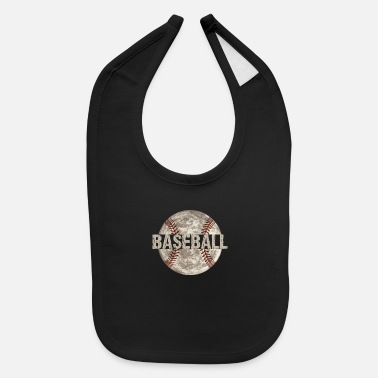 Game Ball Baseball Game Ball Distressed - Baby Bib