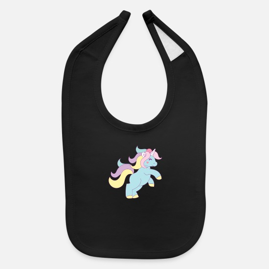 Love Baby Clothing - Princess Unicorn - Baby Bib black