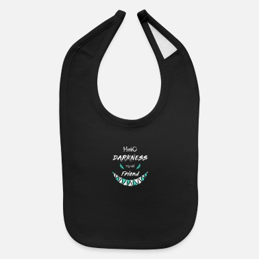 Isolated hello darkness my old friend - Baby Bib