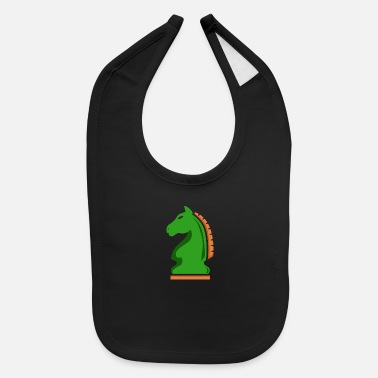 Medieval Chess Knight Horse Green Chess Player Gift Idea - Baby Bib
