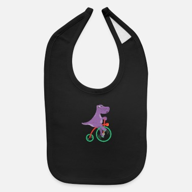 Brother Dinosaur Dino Riding Bicycle Dino Lover - Baby Bib