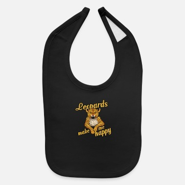 Leopard Leopards make me happy - Baby Bib