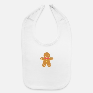Toddler cute gingerbread man with pink bow - Baby Bib