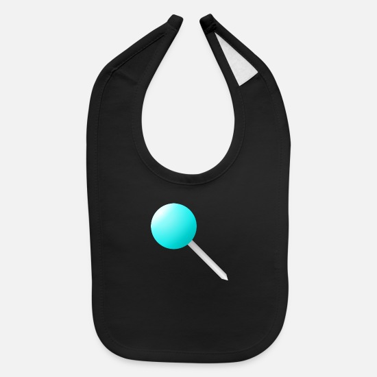 Worry Baby Clothing - Needle in cyan - Baby Bib black