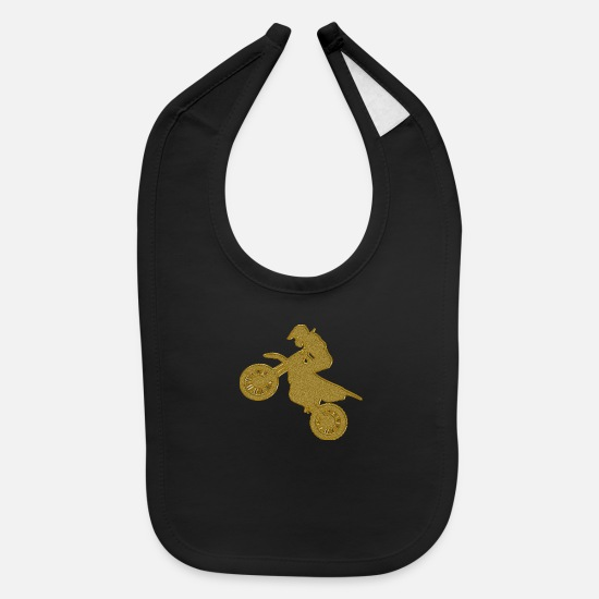 Motocross Baby Clothing - Golden Motocross - Baby Bib black