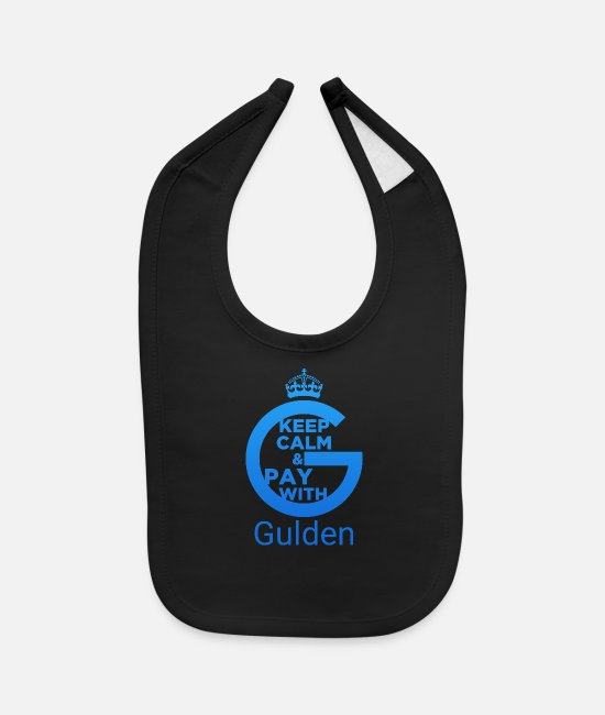 Gulden Cryptocurrency Baby Clothing - Keep Calm and Pay With Gulden - Baby Bib black