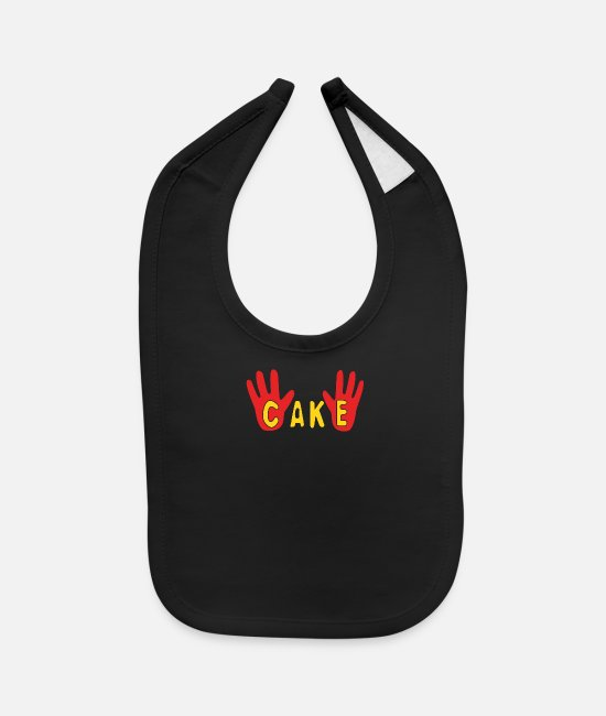 Cake Baby Clothing - Cake - Baby Bib black