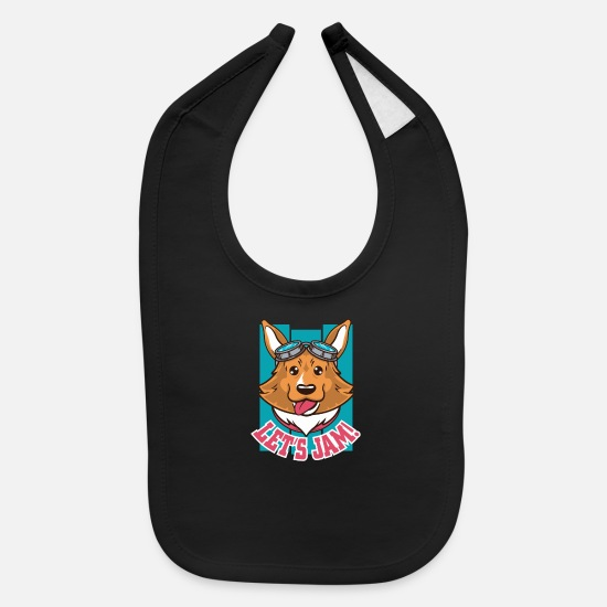 Game Baby Clothing - Dog Jam - Baby Bib black