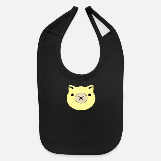 Game Baby Clothing - Roadhog Piggy Icon - Baby Bib black