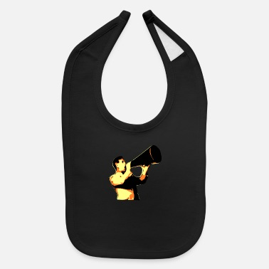 Yell man yelling - Baby Bib