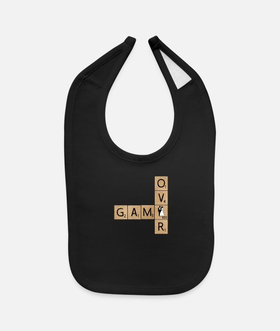 Game Baby Bibs - Game Over Getting Married - Baby Bib black