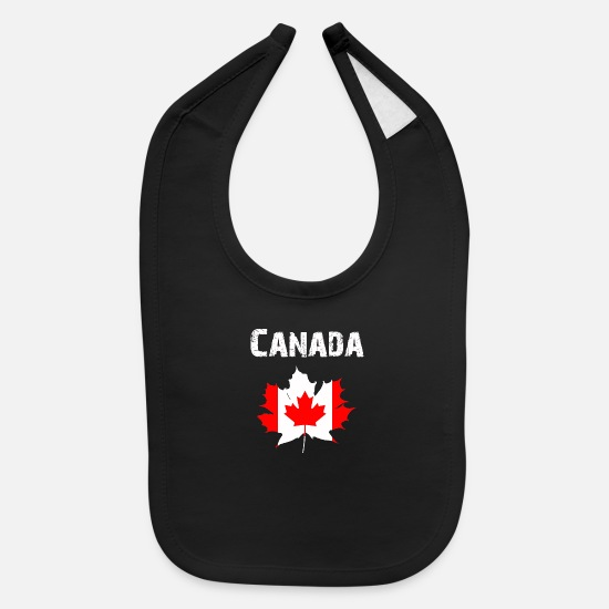 National Team Baby Clothing - Nation-Design Canada Maple leaf H5d - Baby Bib black