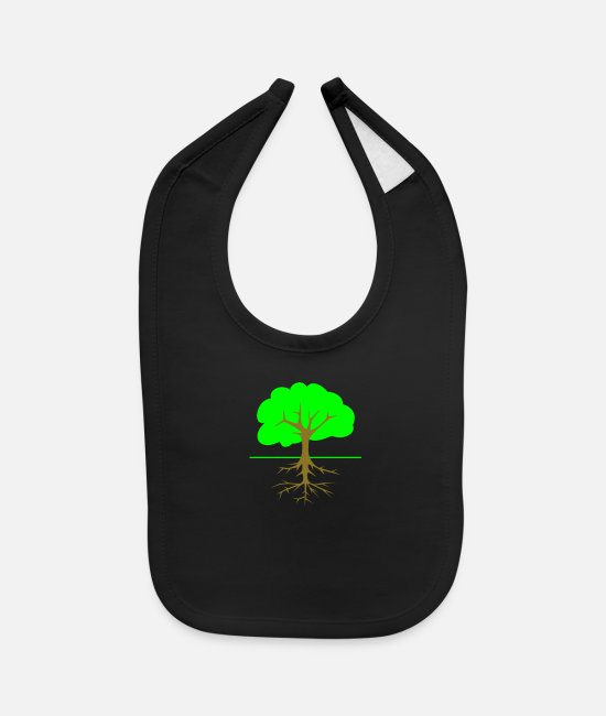 Root Baby Bibs - Tree Roots - Baby Bib black
