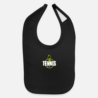 Play Tennis Tennis Player Design - Baby Bib