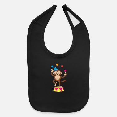 Circus Cute Circus Monkey Ape Comic Cartoon - Baby Bib