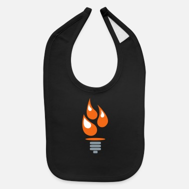 Oil Oil Lightbulb - Baby Bib