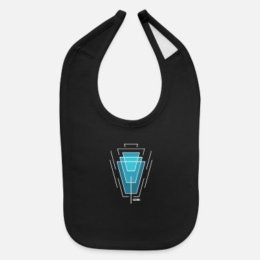 Series GSNK Ascending Light Blue Quadrilateral Logo - Baby Bib