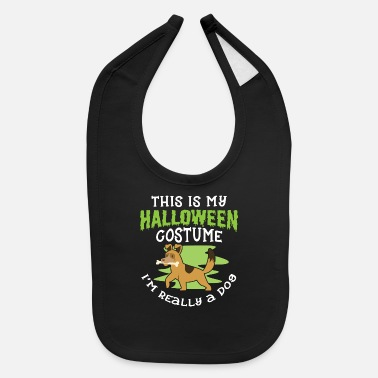 Unicorn Halloween Shirt My Halloween Costume I'm Really a - Baby Bib