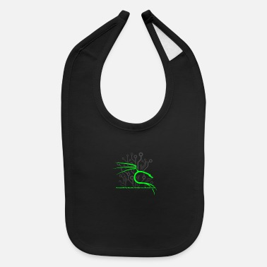Kali Linux Backtrack Kali Linux With Dragon And Tagline Green - Baby Bib