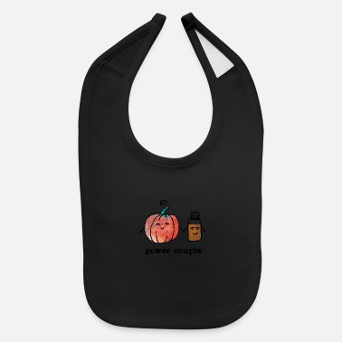 Power Couple Cute Pumpkin And Spice - Baby Bib