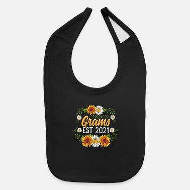 Grams Est 2021 Cute Sunflower Gifts New Grams - Baby Bib