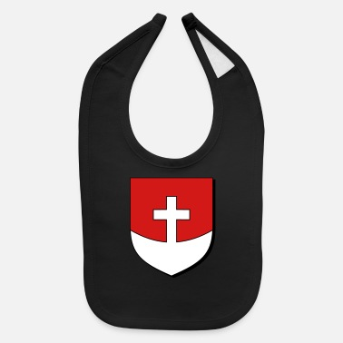 Roman Cross Cross on Mound - Baby Bib