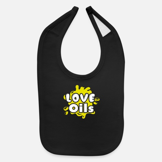 Love Essential Oils Tee Shirt Baby Clothing - Love Essential Oils Tee Shirt - Baby Bib black