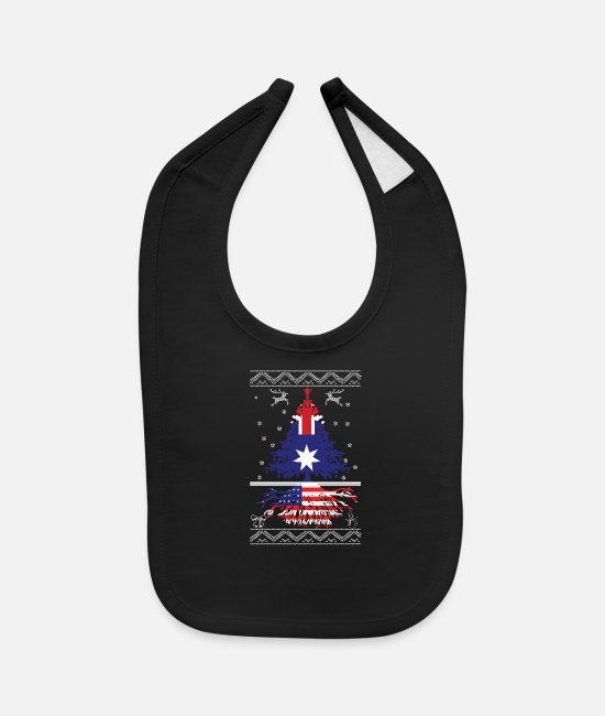 American Roots Baby Bibs - Australian with American root - Baby Bib black
