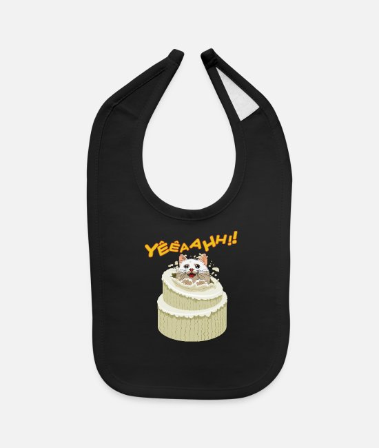 Design Baby Bibs - Kitten in the cake - Baby Bib black