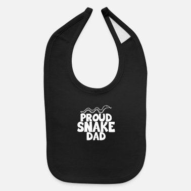 Crawl Snake proud snake dad snake shirt - Baby Bib