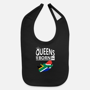 Proud Heritage Birthday Pride Love Queens are born South Africa Pride Woman Birthday - Baby Bib