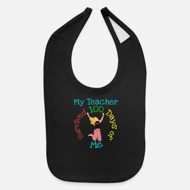Grandson My Teacher Survived 100 Days Of Me - Student Gifts - Baby Bib