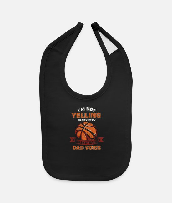 Competition Baby Bibs - Basketball Player Ball Game Team Funny I'm Not - Baby Bib black