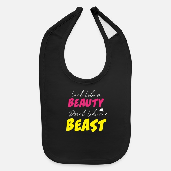 Team Bride Baby Clothing - beauty bride bachelorette party married gift - Baby Bib black