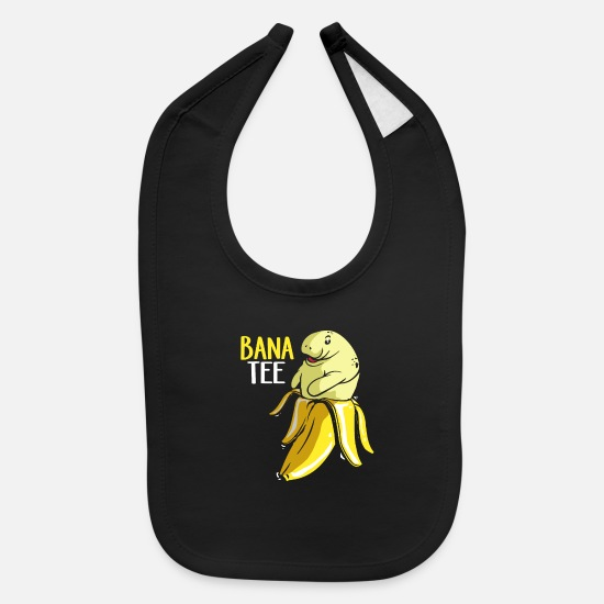 Dolphin Baby Clothing - Manatee Dugong Sea Cow Mammal floaty Potato Dive - Baby Bib black