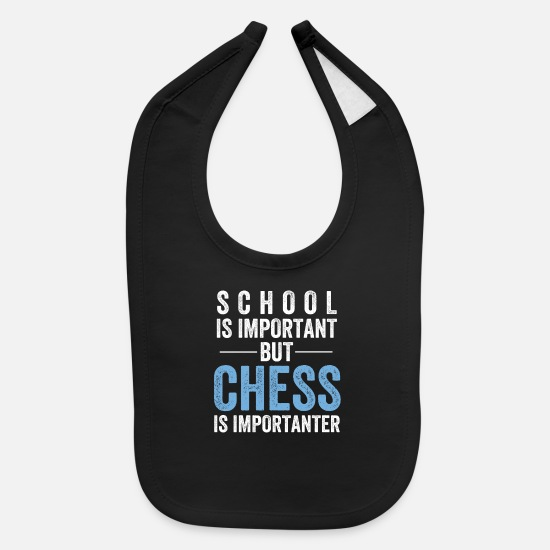 Chess Baby Clothing - Chess - Baby Bib black