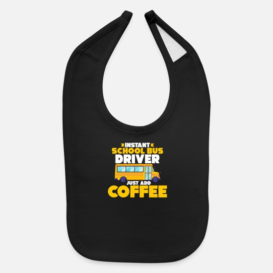 Bus Baby Clothing - Bus Driver Gift Occupation Job Bus Coffee - Baby Bib black