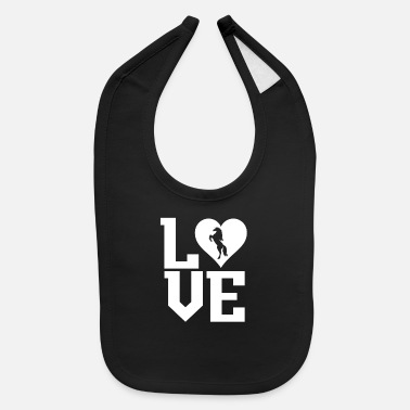 Racehorse Love for horses - Baby Bib