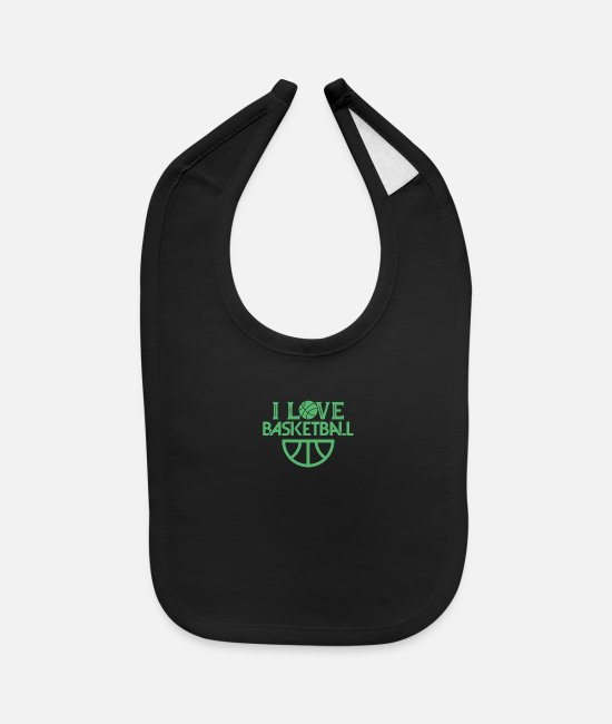 Basketball Player Baby Bibs - Player - Baby Bib black
