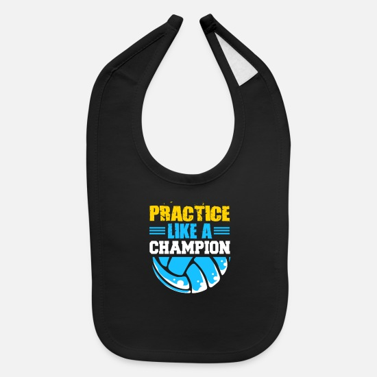 Practice Baby Clothing - Beach Volleyball Team Player Volley Quote Setter - Baby Bib black