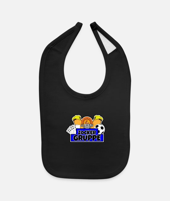 Soccer Baby Clothing - gamblers group - Baby Bib black