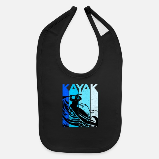 Kayaking Baby Clothing - Kayak - Baby Bib black