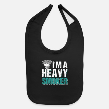 I'm A Heavy Smoker BBQ Barbeque - Baby Bib