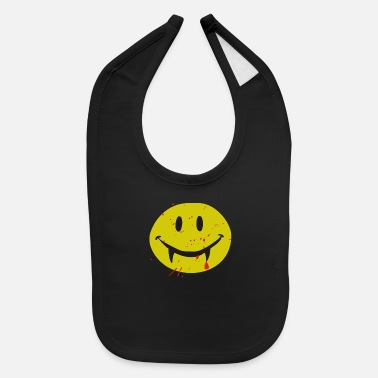 Vampire Dracula Smile Blood Halloween - Baby Bib