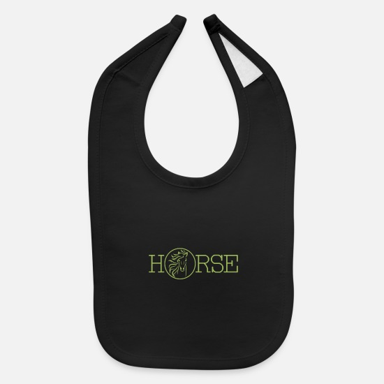 Horseshoe Baby Clothing - Horse - Baby Bib black