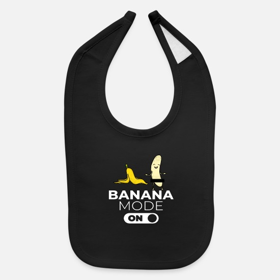 Prom Baby Clothing - Banana Mode On Bachelorette Party Hen Night Party - Baby Bib black