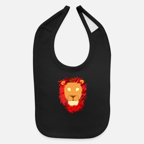 Raider Baby Clothing - Lion Head The Lion Shirt - Baby Bib black