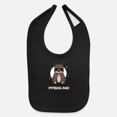 Husband Mens Cool Funny Pitbull Dad graphic - Pitbull Dog - Baby Bib